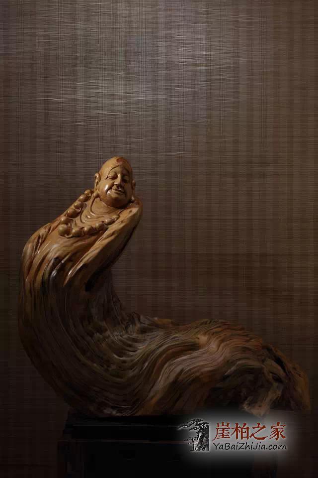 十八罗汉崖柏根雕作品欣赏